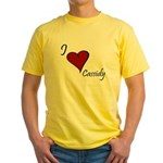 I love Cassidy Yellow T-Shirt