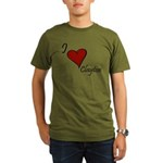 I love Clayton Organic Men's T-Shirt (dark)