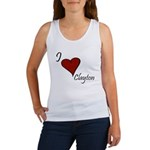 I love Clayton Women's Tank Top