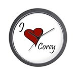 I love Corey Wall Clock