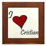 I love Cristian Framed Tile