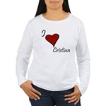 I love Cristian Women's Long Sleeve T-Shirt