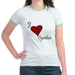I love Cynthia Jr. Ringer T-Shirt