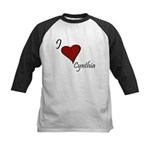 I love Cynthia Kids Baseball Jersey