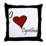 I love Cynthia Throw Pillow