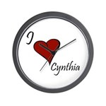 I love Cynthia Wall Clock