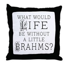 Brahms Quote Throw Pillow