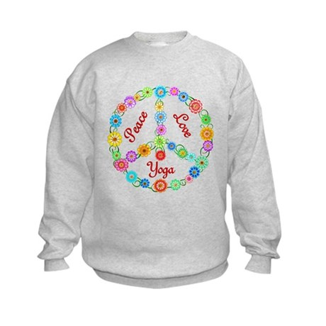 Yoga Peace Sign Kids Sweatshirt