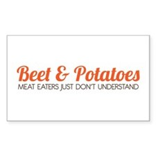 Beet & Potatoes Sticker (Rectangle)