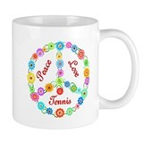 Tennis Peace Sign Coffee Mug