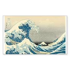 Hokusai Great Wave Sticker (Rectangle 10 pk)