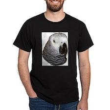 Congo African Grey Black T-Shirt