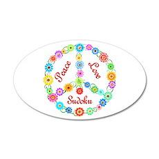 Sudoku Peace Sign 22x14 Oval Wall Peel