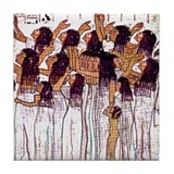 Weeping Egyptian Women -Tile Coaster