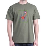 Orange and Purple Bug Black T-Shirt