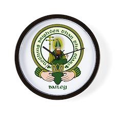 Bailey Clan Motto Wall Clock