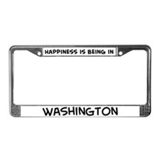 Happiness is Washington License Plate Frame