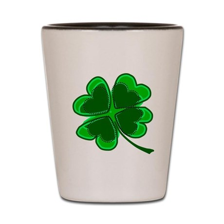 Lucky Four Leaf Clover Shot Glass