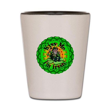 Kiss Me Irish Leprechaun Shot Glass