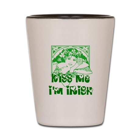 Kiss Me Irish Girl Shot Glass