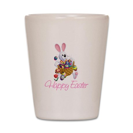 Happy Easter Bunny Shot Glass