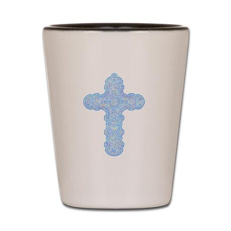 Pastel Cross Shot Glass
