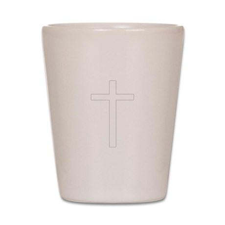 Simple Cross Shot Glass