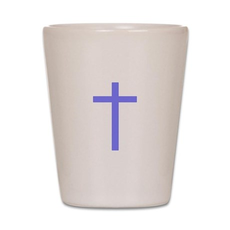 Purple Cross Shot Glass