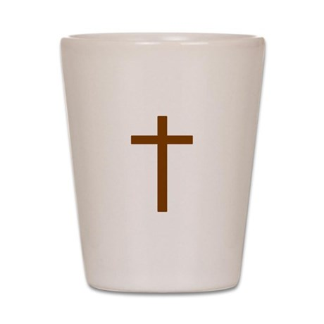 Brown Cross Shot Glass