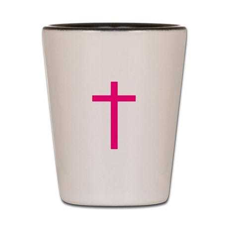 Pink Cross Shot Glass