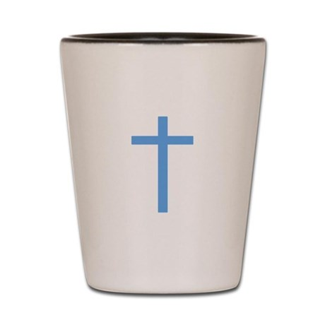 Blue Cross Shot Glass