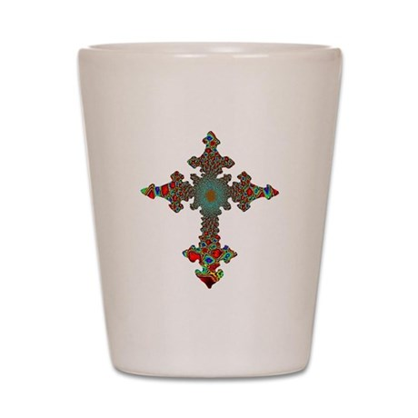 Jewel Cross Shot Glass