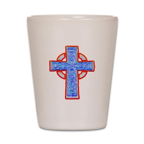 Celtic Cross Shot Glass