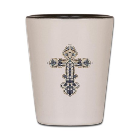 Ornate Cross Shot Glass