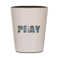 Real Men Pray - Lt Teal Shot Glass