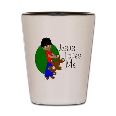 Jesus Loves Me Shot Glass