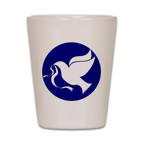 Peace Dove Shot Glass