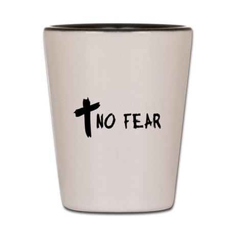 No Fear Cross Shot Glass