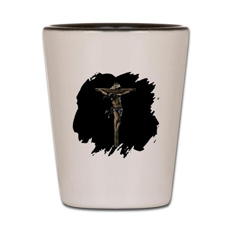 Jesus on the Cross Shot Glass