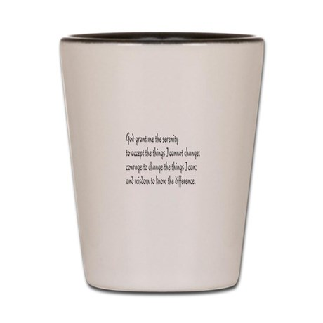 Serenity Prayer Shot Glass
