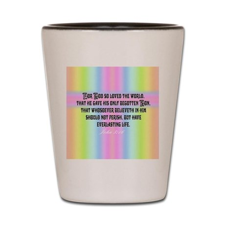 John 3:16 Rainbow Shot Glass