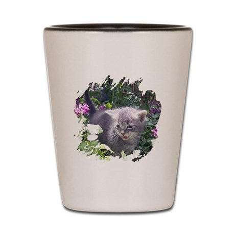 Flower Kitten Shot Glass