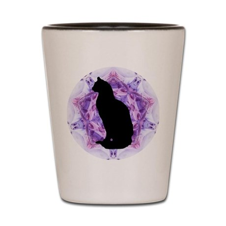Kaleidoscope Cat Shot Glass