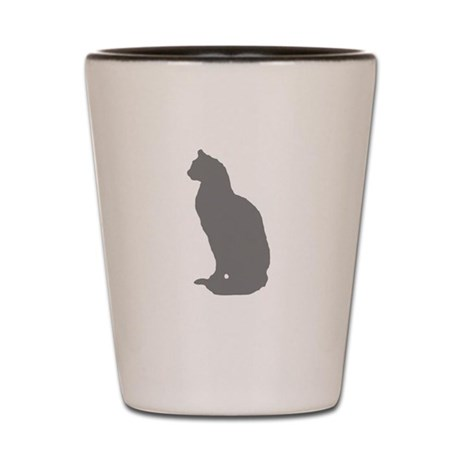 Grey Cat Shot Glass