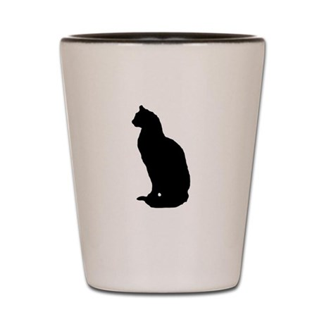 Cat Silhouette Shot Glass
