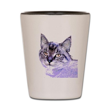 Purple Cat Shot Glass
