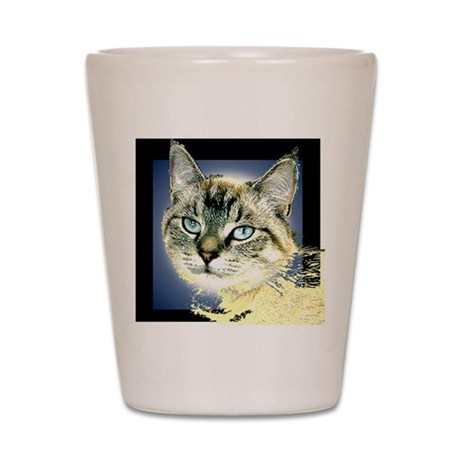 Blue Eyed Kitten Shot Glass