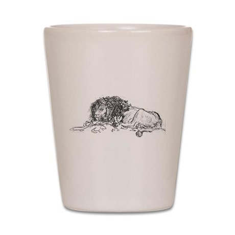 Lion Sketch Shot Glass