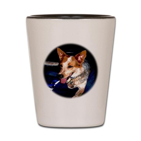 Red Heeler Shot Glass