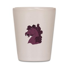 Purple Horse Shot Glass